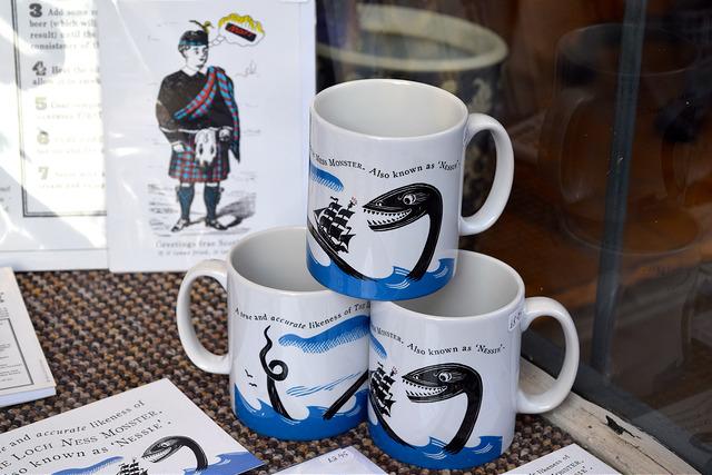 Nessie Mugs at Museum Context, Edinburgh   www.rachelphipps.com @rachelphipps