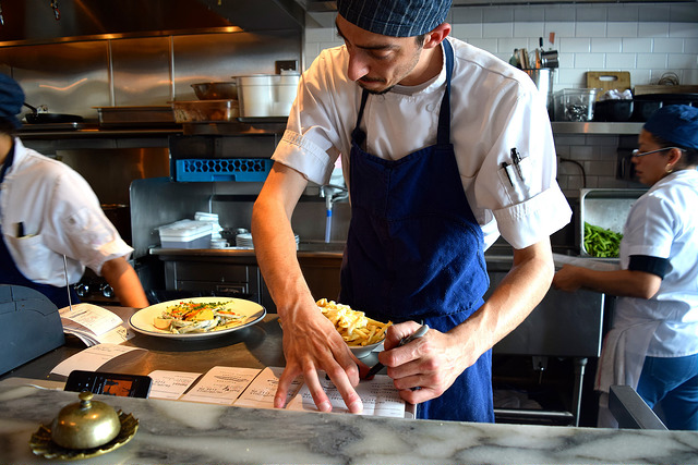 Working the line at Petit Trois, Hollwood