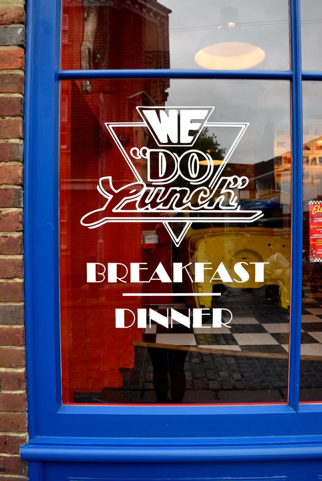 Elsie Mo's Diner Windows, Canterbury | www.rachelphipps.com @rachelphipps