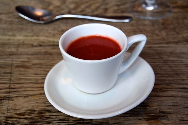 Tomato & Beetroot Soup from the Autumn Tasting Menu at The Ambrette, Canterbury | www.rachelphipps.com @rachelphipps