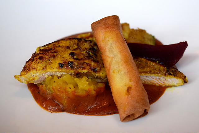 Poussin with Masala Potatoes from the Autumn Tasting Menu at The Ambrette, Canterbury | www.rachelphipps.com @rachelphipps