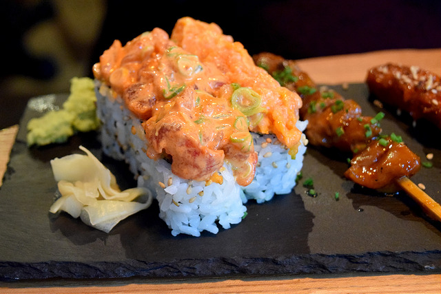 Spicy Salmon Rolls at Murakami, Covent Garden | www.rachelphipps.com @rachelphipps