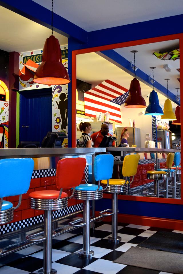 Bar Stools at Elsie Mo's Diner, Canterbury | www.rachelphipps.com @rachelphipps
