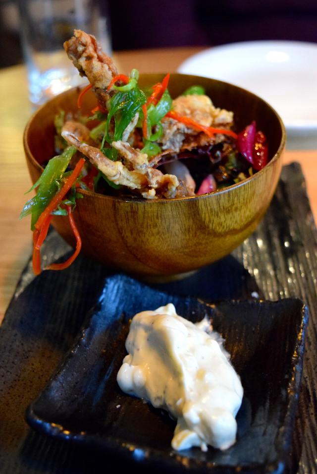 Soft Shell Crab Tempura with Japanese Mayo at Murakami, Covent Garden | www.rachelphipps.com @rachelphipps
