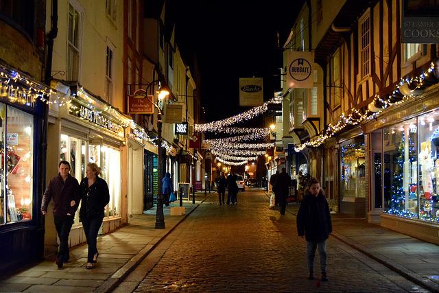Burgate Christmas Lights, Canterbury | www.rachelphipps.com @rachelphipps
