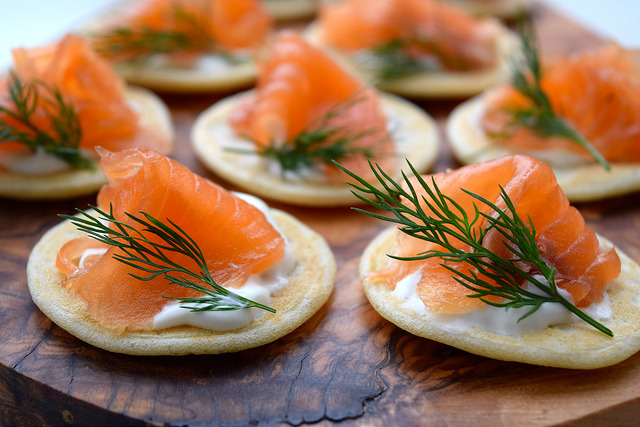 From Scratch Gin & Dill Cured Salmon Bilinis | www.rachelphipps.com @rachelphipps