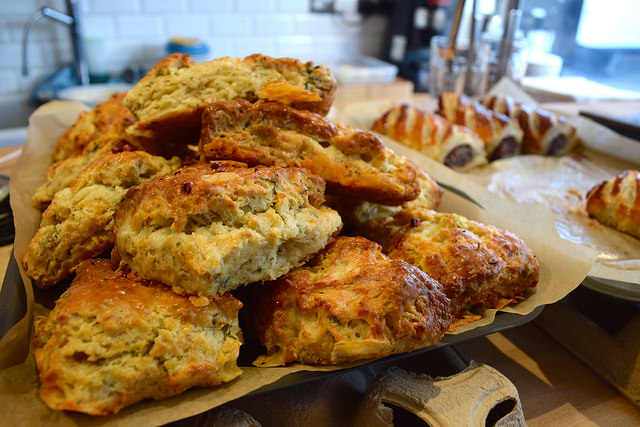 Cheese Scones at Pop Up Cafe, Deal | www.rachelphipps.com @rachelphipps