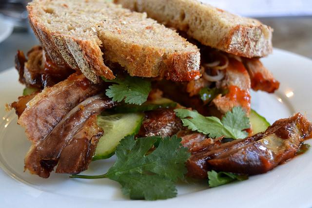Pork Belly Hoisin Sandwich at Pop Up Cafe, Deal | www.rachelphipps.com @rachelphipps