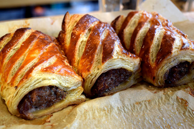 Homemade Sausage Rolls at Pop Up Cafe, Deal | www.rachelphipps.com @rachelphipps