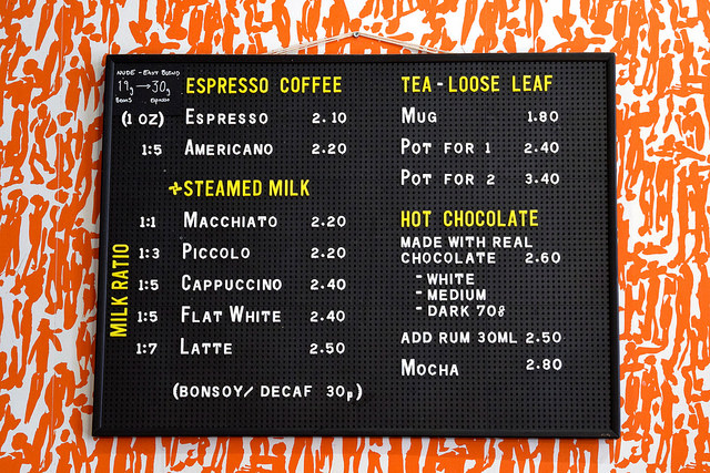 Coffee Menu at Pop Up Cafe, Deal | www.rachelphipps.com @rachelphipps