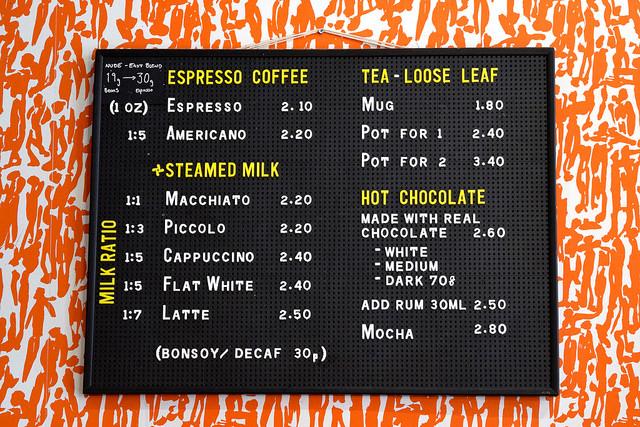 Coffee Menu at Pop Up Cafe, Deal | www.rachelphipps.com @rachelphipps