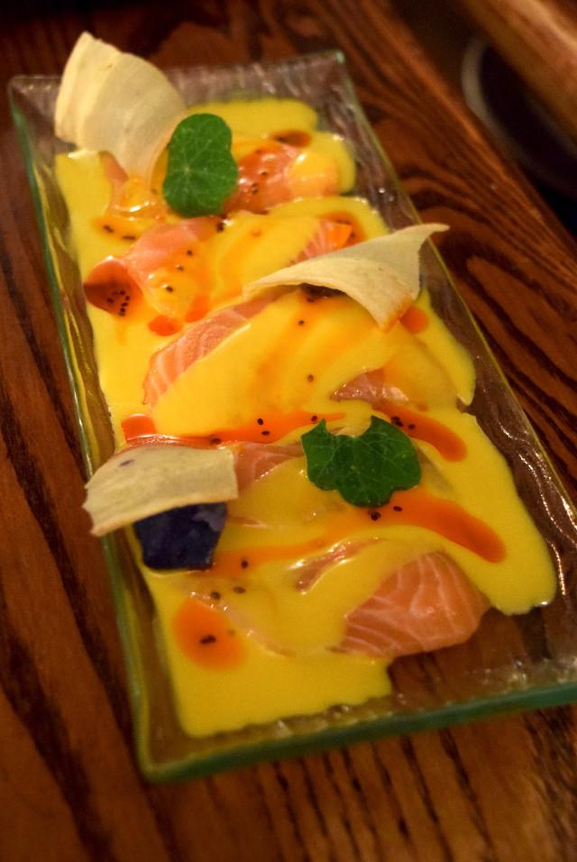 Salmon Ceviche at Ceviche, Soho | www.rachelphipps.com @rachelphipps
