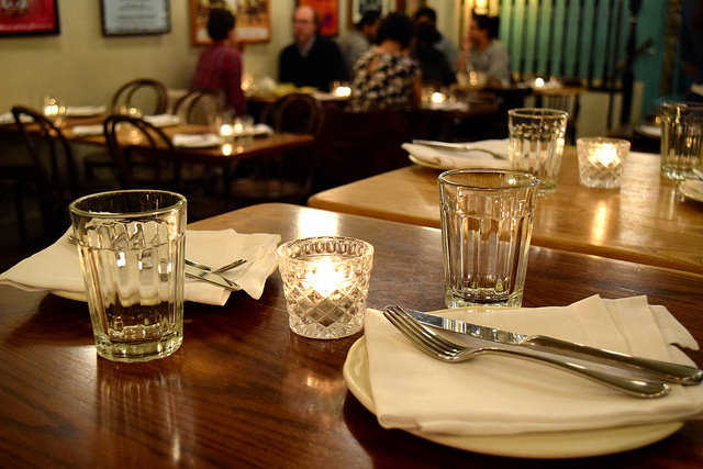 Tables at Ceviche, Soho | www.rachelphipps.com @rachelphipps