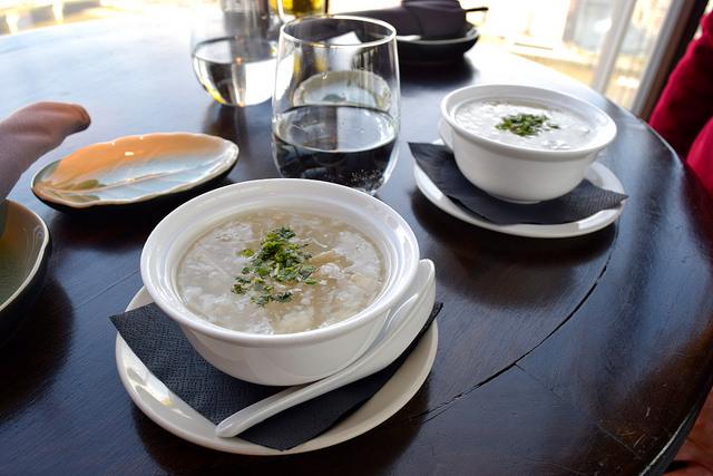Monkfish & Enoki Mushroom Soup at Hutong, The Shard | www.rachelphipps.com @rachelphipps