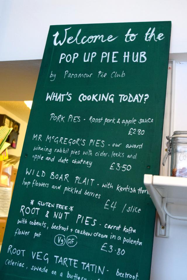 Pie Board at Paramour Pie Club, Deal | www.rachelphipps.com @rachelphipps