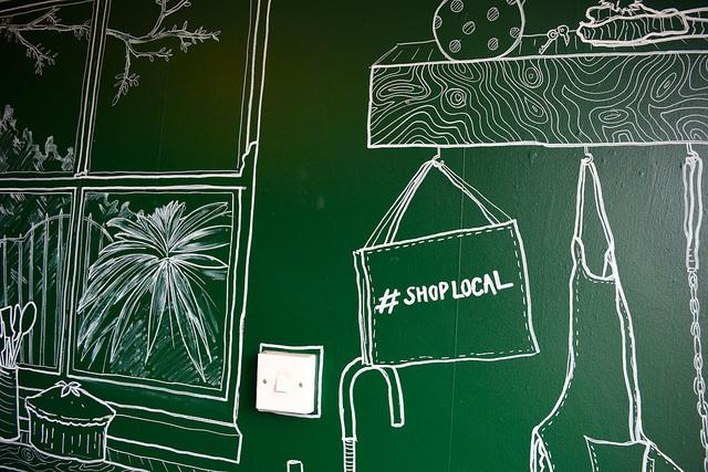 Wall Doodles at Paramour Pie Club, Deal | www.rachelphipps.com @rachelphipps
