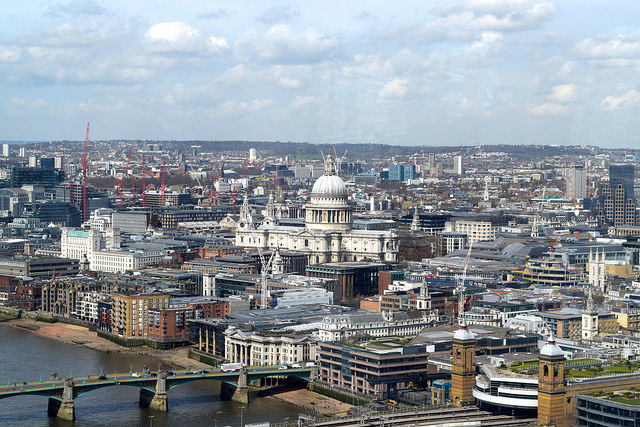 St Paul's Cathedral from The Shard | www.rachelphipps.com @rachelphipps