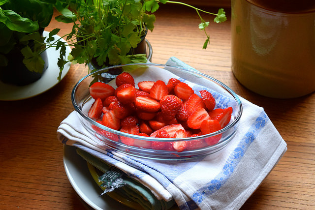 Local Brittany Strawberries, France | www.rachelphipps.com @rachelphipps