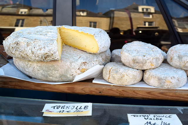 Local Cheeses at Combourg Market, Brittany | www.rachelphipps.com @rachelphipps