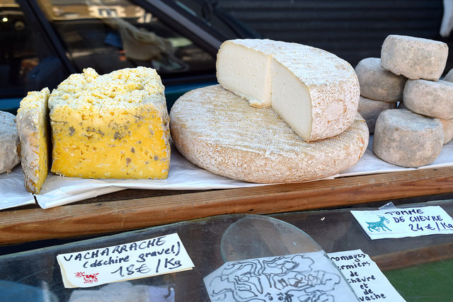 French Cheeses at Combourg Market, Brittany | www.rachelphipps.com @rachelphipps