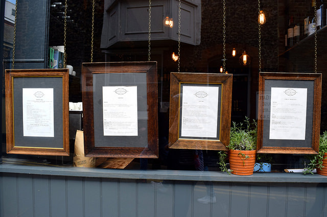 Menus at Wyatt and Jones, Broadstairs | www.rachelphipps.com @rachelphipps