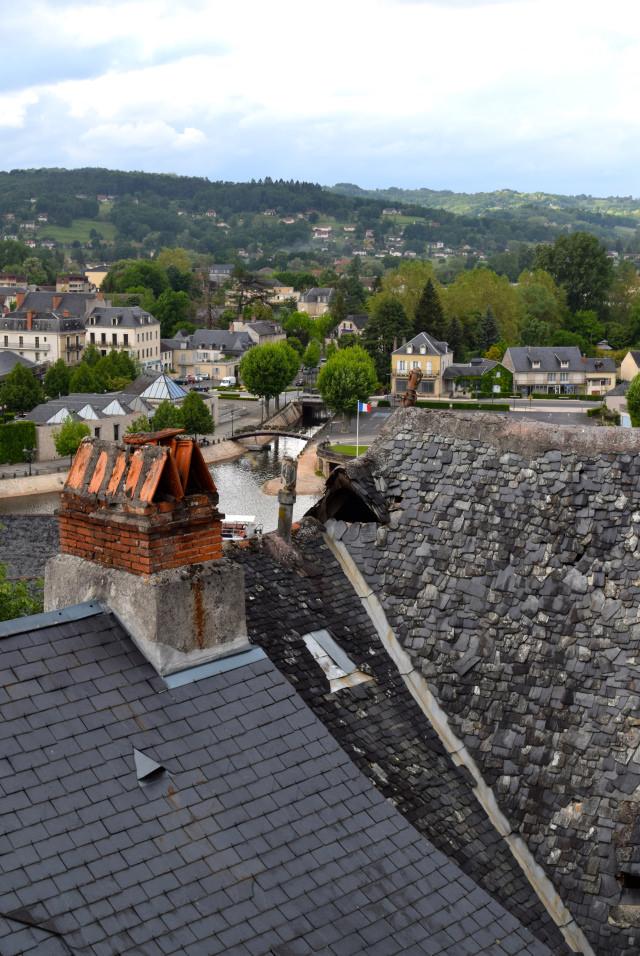 Rooftops in Terrasson, Aquitane | www.rachelphipps.com @rachelphipps