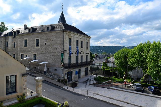 Balcony View at Hostellerie de L'Imaginaire, Terrasson | www.rachelphipps.com @rachelphipps