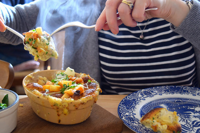Individual Fish Pie  at The Duck Inn, Pett Bottom | www.rachelphipps.com @rachelphipps