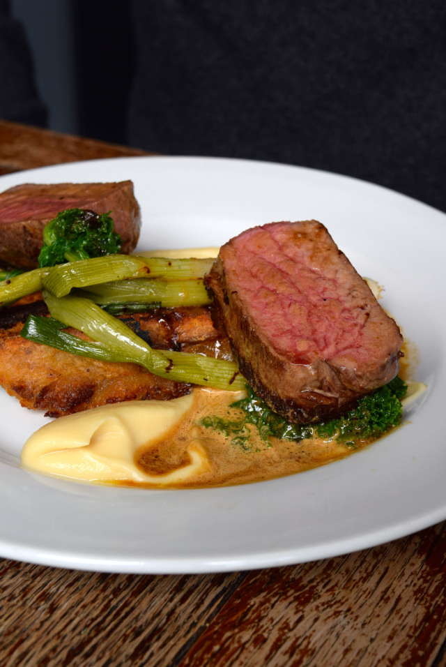 Beef & Griddled Vegetables at Wyatt and Jones, Broadstairs   www.rachelphipps.com @rachelphipps