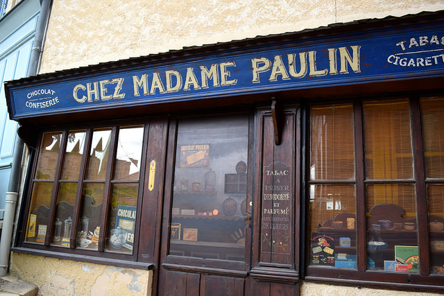Traditional Shopfronts in Terrasson, Aquitane | www.rachelphipps.com @rachelphipps