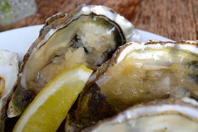 Gin and Tonic Granita Whitstable Oysters at Wyatt and Jones, Broadstairs   www.rachelphipps.com @rachelphipps