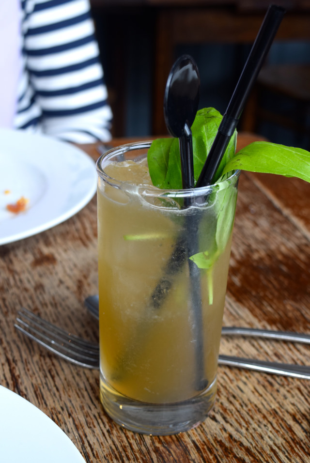 Basil Gin Cocktail at Wyatt and Jones, Broadstairs | www.rachelphipps.com @rachelphipps