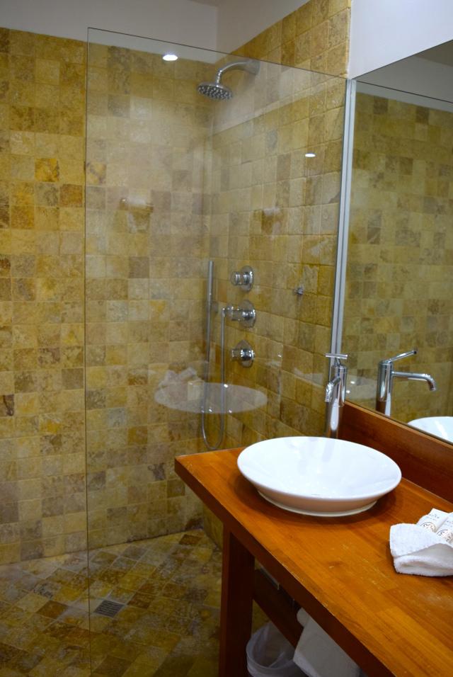 Bathroom at Hostellerie de L'Imaginaire, Terrasson | www.rachelphipps.com @rachelphipps