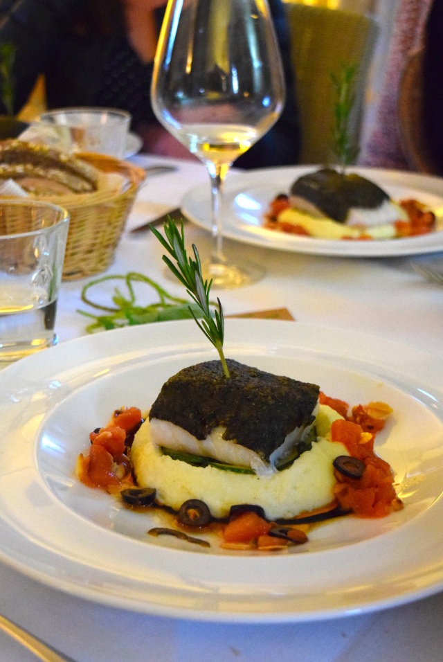 Olive Crusted Cod at Manoir de Malagorse   www.rachelphipps.com @rachelphipps