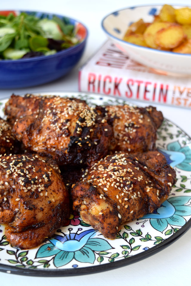 Oven-roasted Chicken with Sumac, Pomegranate Molasses, Chilli and Sesame Seeds From Venice To Istanbul | www.rachelphipps.com @rachelphipps