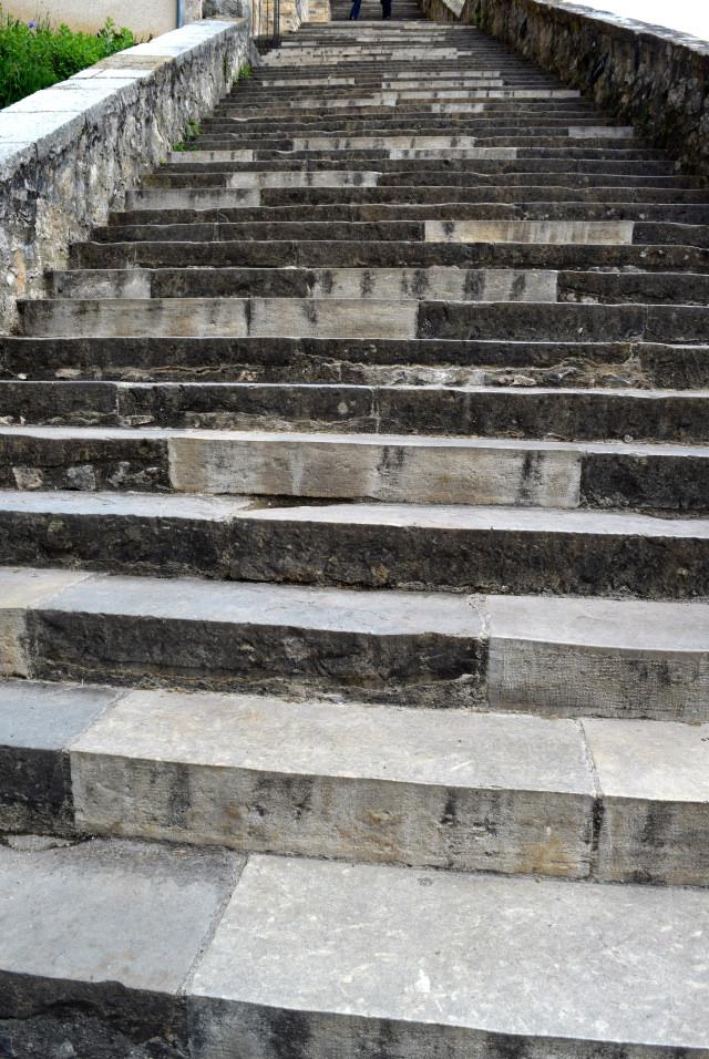 Steps at Rocamadour, Dordogne Valley | www.rachelphipps.com @rachelphipps