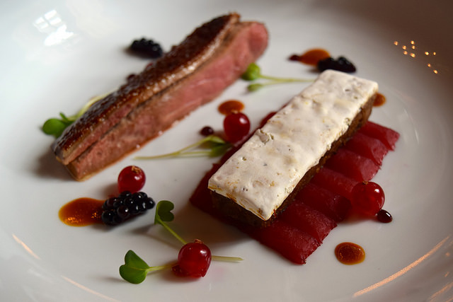 Duck with Nougat and Seasonal Fruits | www.rachelphipps.com @rachelphipps