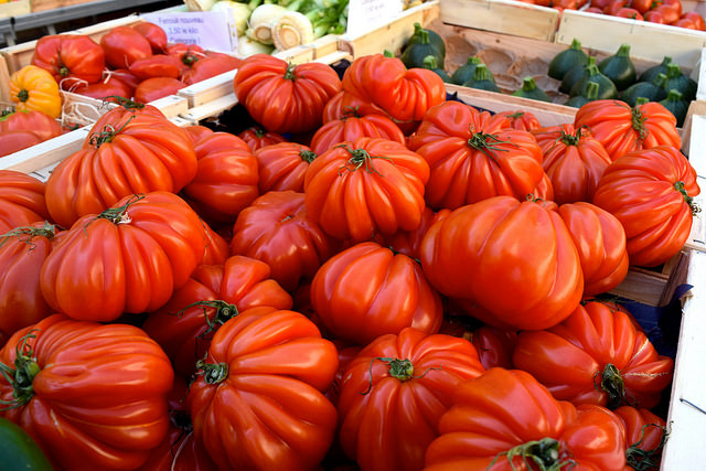 Local Tomatoes at Sarlat Market | www.rachelphipps.com @rachelphipps