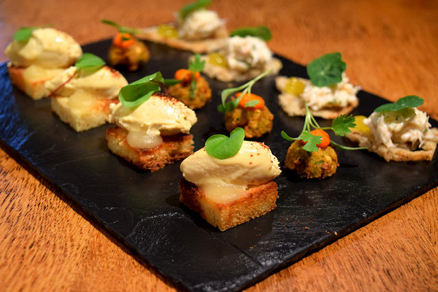 Canapes at Chapel Down Vineyard | www.rachelphipps.com @rachelphipps