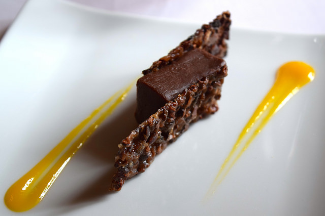 Chocolate and Mango Sweet at Chateau de la Treyne | www.rachelphipps.com @rachelphipps