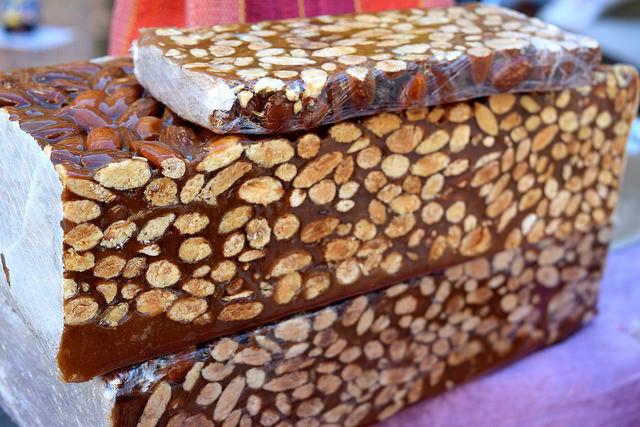 Nutty Nougat at Sarlat Market | www.rachelphipps.com @rachelphipps