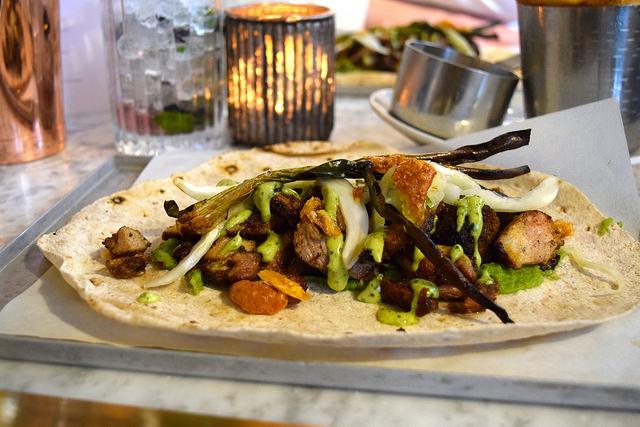 Pork Shawarma at Le Bab   www.rachelphipps.com @rachelphipps