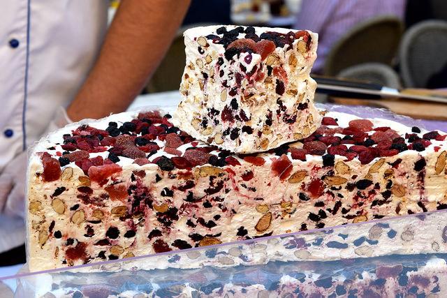 Fruit Nougat at Sarlat Market | www.rachelphipps.com @rachelphipps
