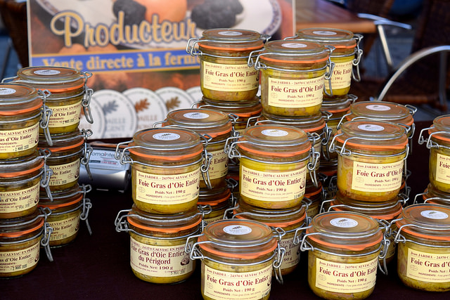 Foie Gras at Sarlat Market | www.rachelphipps.com @rachelphipps