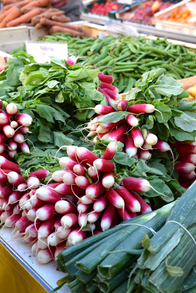 French Radishes at Sarlat Market | www.rachelphipps.com @rachelphipps