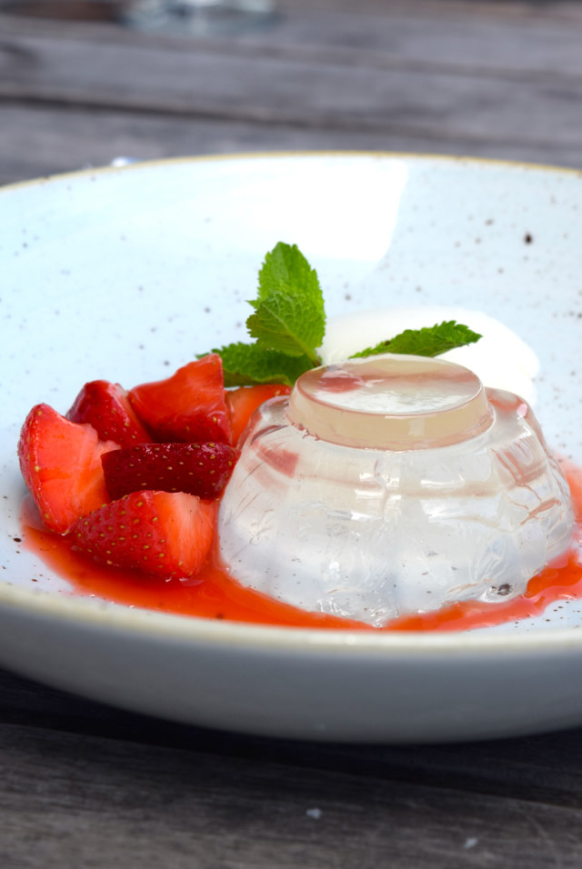Gin Mare Jelly with Local Strawberries and Lime & Tonic Sorbet at Rocksalt | www.rachelphipps.com @rachelphipps