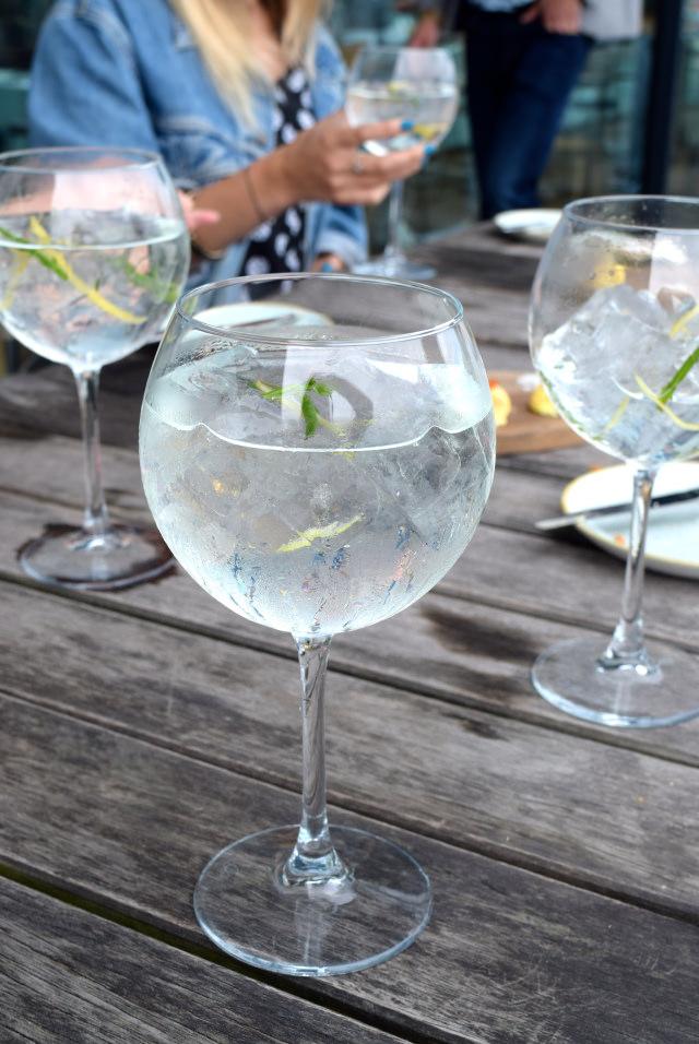 Gin Mare G&T's with Lemon and Samphire at Rocksalt, Folkestone | www.rachelphipps.com @rachelphipps