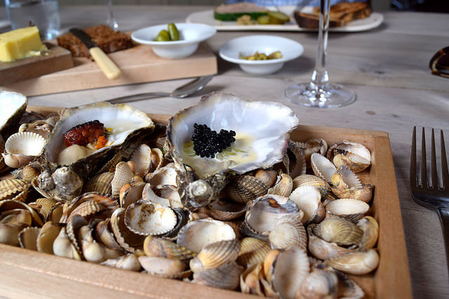 Poached Rock Oysters with Caviar at The Sportsman, Seasalter | www.rachelphipps.com @rachelphipps