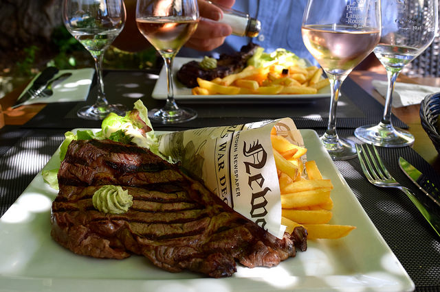 Entrecote Steak & Chips at Hotel Restaurant du Chateau, Combourg | www.rachelphipps.com @rachelphipps