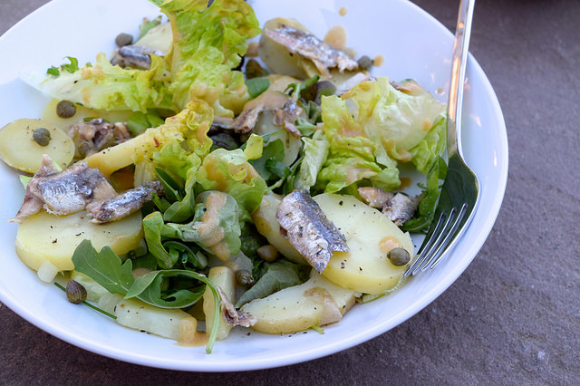 Anchovy, Caper & Potato Salad with French Vinaigrette | www.rachelphipps.com @rachelphipps